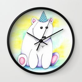Birthday Bear Wall Clock