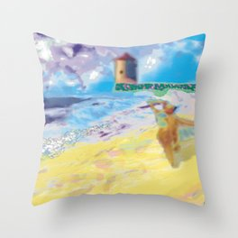 Côte Sauvage at the Atlantic in France. Throw Pillow