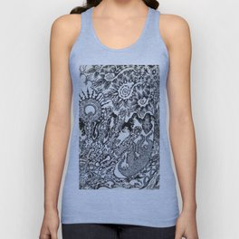 The Evolution of Man Within His Handz - By: Matthew Crispell Unisex Tank Top