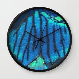 Blue Veins Wall Clock