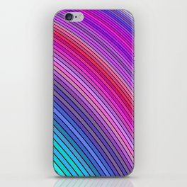 Cold rainbow stripes iPhone Skin