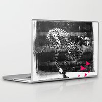 runner Laptop & iPad Skins featuring speed runner by frederic levy-hadida