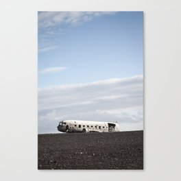 Iceland Plane Wreckage Canvas Print