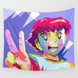 Captain Tsubasa in pop art wpap Wall Tapestry