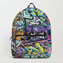 PAGER Collage Royal Stain Backpack