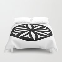 pasta Duvet Covers featuring Pasta Series: Corzetti by Michelle Ghiotti