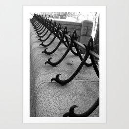 Cast Iron Walk Art Print