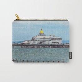 Eastbourne Pier as Digital Art Carry-All Pouch