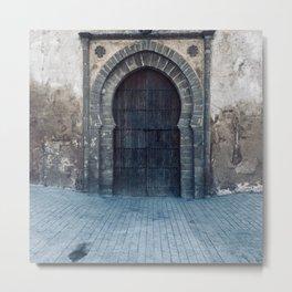 Old Historic moroccan door in the old medina Metal Print