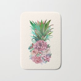Floral Pineapple Bath Mat