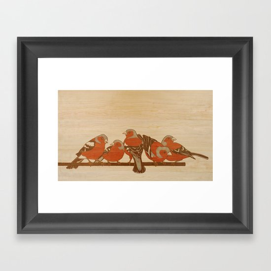 Chaffinches Framed Art Print