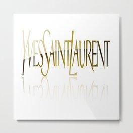 YSL Metal Print