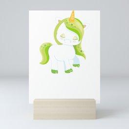 Kids St Patricks Day Irish Unicorn Mini Art Print