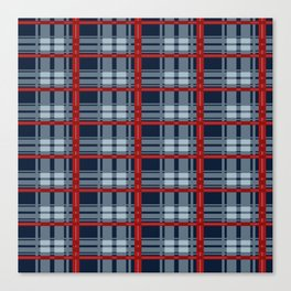 Red Line White And Red Lumberjack Flannel Pattern Canvas Print