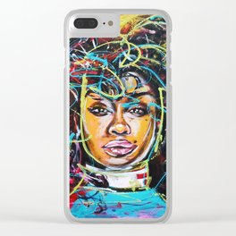 sza Clear iPhone Case