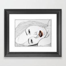 Under my skin Framed Art Print