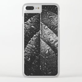 Leaf after the Rain - Plant Photography Clear iPhone Case