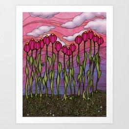 june blooms Art Print