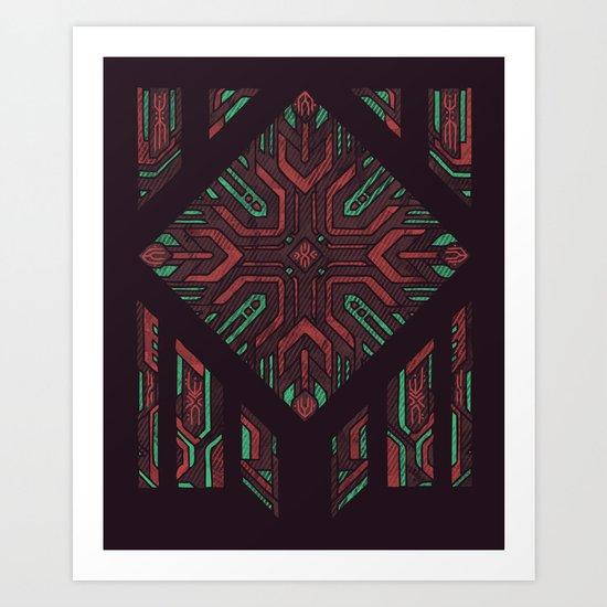 Compartmentalized Art Print