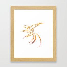 Sema The Dance Of The Whirling Dervish Framed Art Print