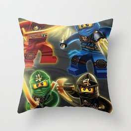 squad ninjago Throw Pillow