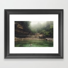 Emerald Pool Framed Art Print