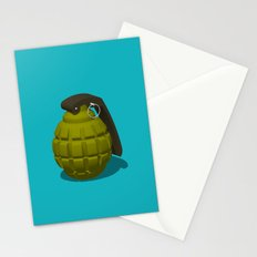 Hand Grenade Stationery Cards