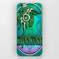 astrology iPhone & iPod Skins featuring Capricorn Zodiac Sign Astrology by CAP Artwork & Design
