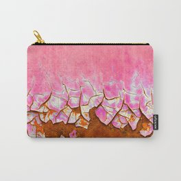 Pink and Rust Carry-All Pouch