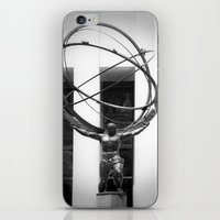 atlas iPhone & iPod Skins featuring Atlas by Jon Cain