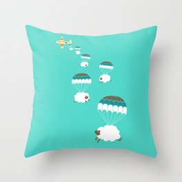 Sheepy clouds Throw Pillow