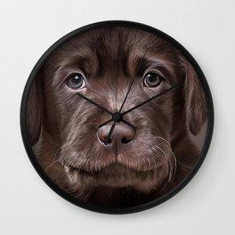 Drawing puppy Labrador Wall Clock