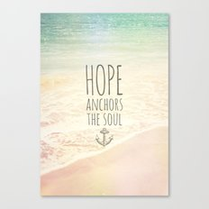 ANCHOR OF HOPE Canvas Print