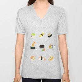 Sushi Pattern Unisex V-Neck