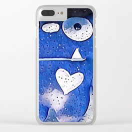 Looking at the stars Clear iPhone Case