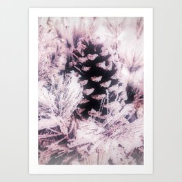White Pine, Christmas Snowfall Art Print