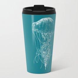 Jellyfish (blue) Travel Mug