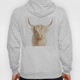 highland albino cow Hoody