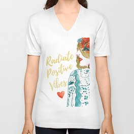 Radiate Positive Vibes Unisex V-Neck