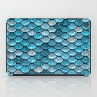 lesbian iPad Cases featuring light turquoise sparkling scales by Better HOME