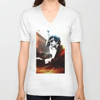bob dylan V-neck T-shirts featuring Bob Dylan by Maioriz Home