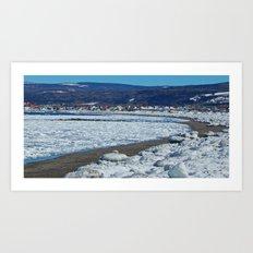 Frozen Beach Art Print