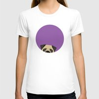 pug T-shirts featuring Pug by Anne Was Here