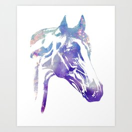 Galaxy Horse Art Print