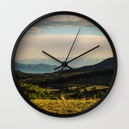 The Mountains Are Calling - Colorado Wall Clock