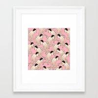 run Framed Art Prints featuring RUN by RUEI