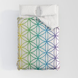 Flower Of Life Rainbow Sacred Geometry Comforters
