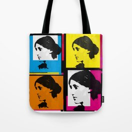 VIRGINIA WOOLF (FUNKY COLOURED COLLAGE) Tote Bag