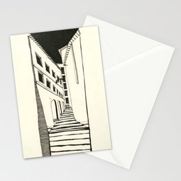 Narrow Passage: Ink Drawing Stationery Cards