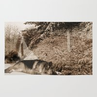 german shepherd Area & Throw Rugs featuring German Shepherd by Erika Kaisersot